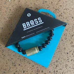 Brass & Unity Warrior Bracelet™ Gold/Black Onyx